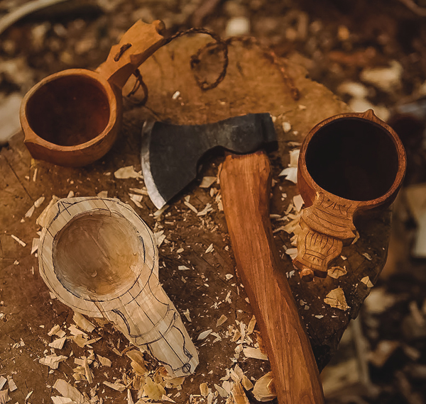 The Loan Store >> Kuksa Carving: Traditional Scandinavian Drinking Cup
